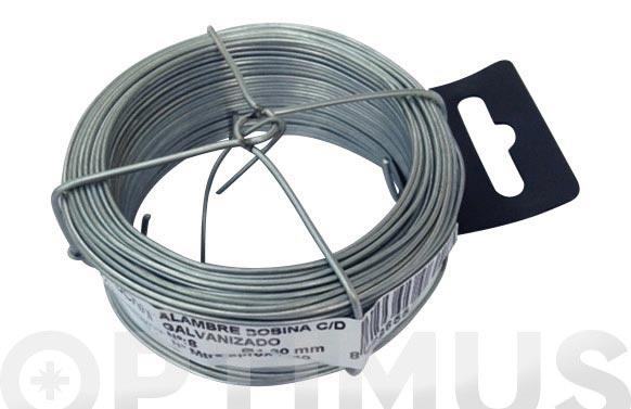 Alambre galvanizado en bobina 100 m n- 2/0,7 mm