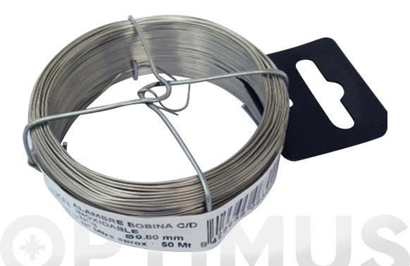 Alambre inoxidable en bobina 50 m n- 3/0,8 mm