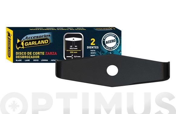 Disco desbrozadora 2 dientes ø 305mm eje 25,4 mm  40cc - maleza y zarzas