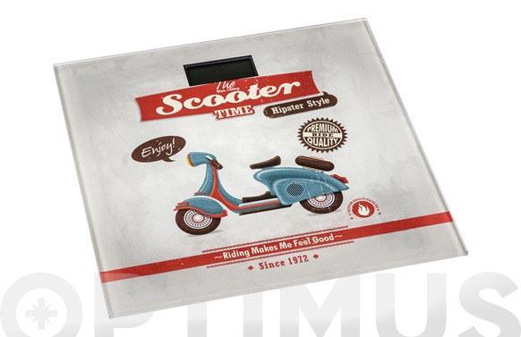 Bascula de baño vintage scooter 30,5x30,5 cm