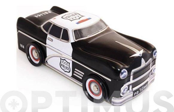 Caja metalica coche policia negro