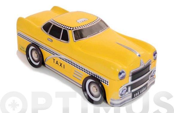 Caja metalica taxi amarillo