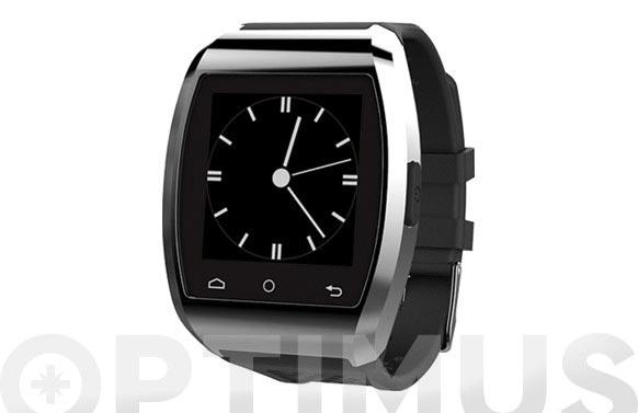 Reloj smart watch compatible ios/android plata/negro