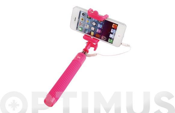 Palo mini extensible selfie automatico 20,5-90cm rosa