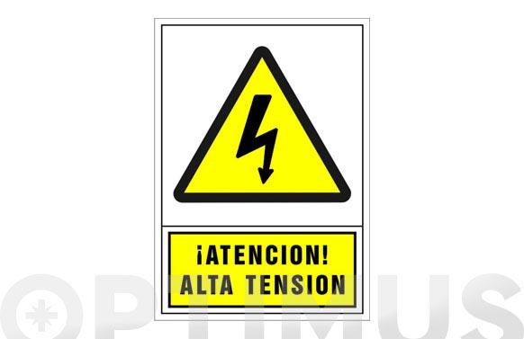 Señal advertencia castellano 345x245 mm-atencion alta tension