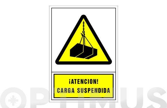Señal advertencia castellano 345x245 mm-atencion carga suspendida