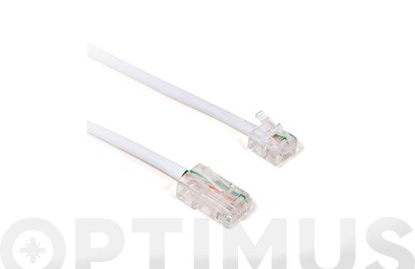 Conexion ethernet rj45/rj11 cat6 2m cu-blanco