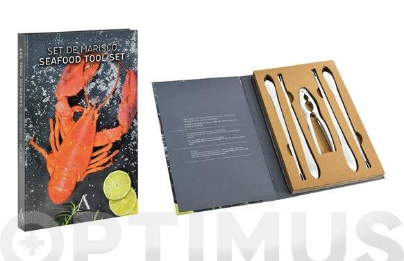 Tenedores mariscos +cortador set 5 piezas