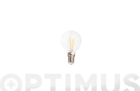 Bombilla led filamento esferica 410lm 3w e14 luz blanca (5000k)
