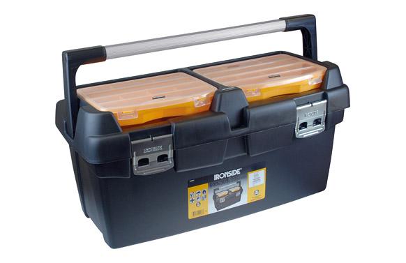Caja herramientas abs negro profesional 600 x 305 x 295 mm asa aluminio