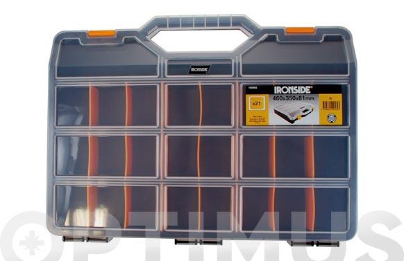 Clasificador maleta polipropileno negro 460 x 350 x 81 mm 21 compartimientos
