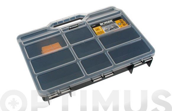 Clasificador maleta polipropileno negro 312 x 238 x 51 mm 21 compartimientos