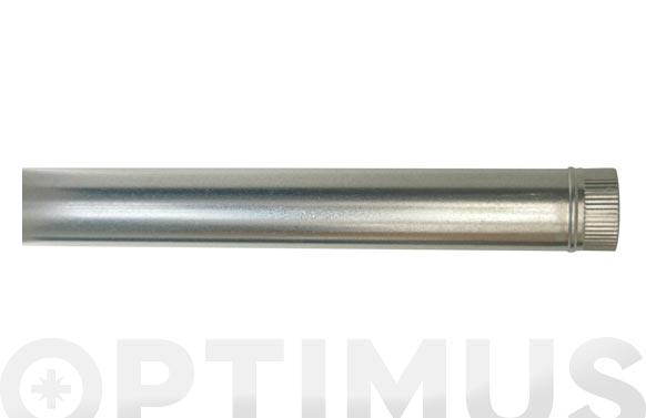 Tubo liso galvanizado chimenea ø 100 x 1 mt x 0,50 mm