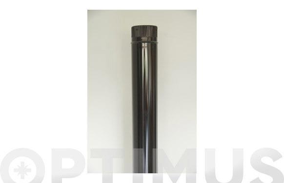 Tubo liso vitrificado negro chimenea ø 120 x 1 mt