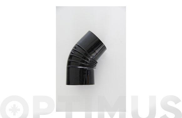 Codo vitrificado negro chimenea ø150 45.