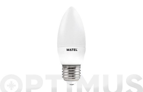 Bombilla vela led al + pc 6w e27 luz calida