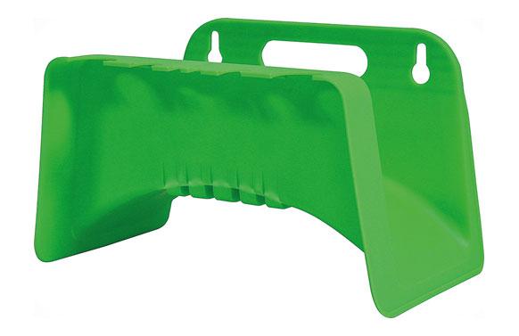 Colgador manguera pared plastico verde lima