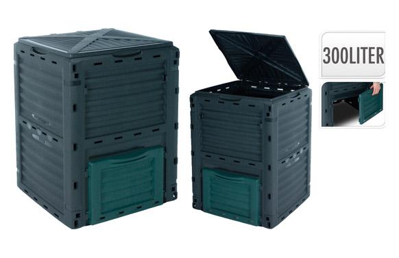 Compostador eco gris 300 l 61 x 61 x 83 cm