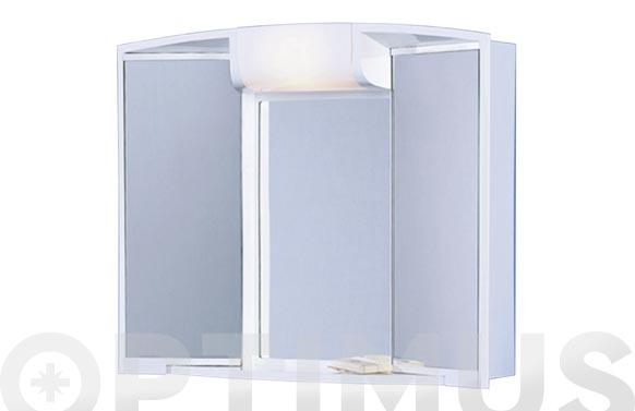Armario 2 puertas enchufe luz y cajon 55x50x15 cm