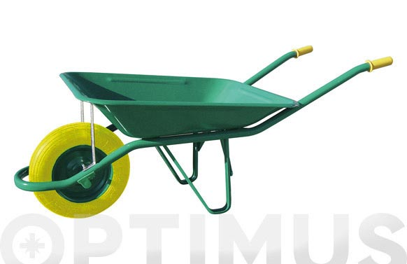 Carretilla metalica verde c1/650-60 l rueda impinchable