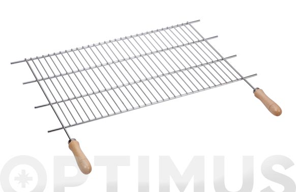 Parrilla recortable zinc mango madera 80 x f40cm (corte 73-82 cm)