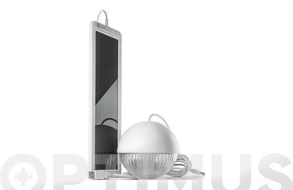 Kit solar recargable con lampara 3 leds blanco