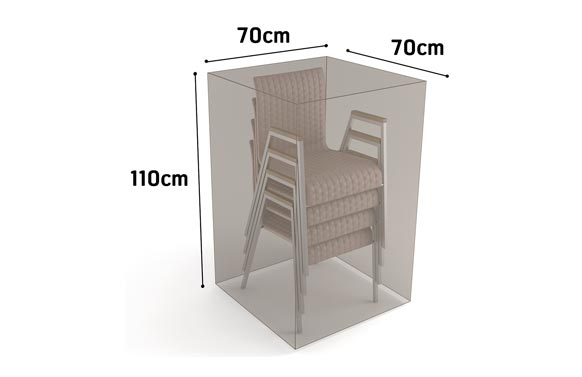 Funda sillas apiladas vison 70 x 70 x h 110