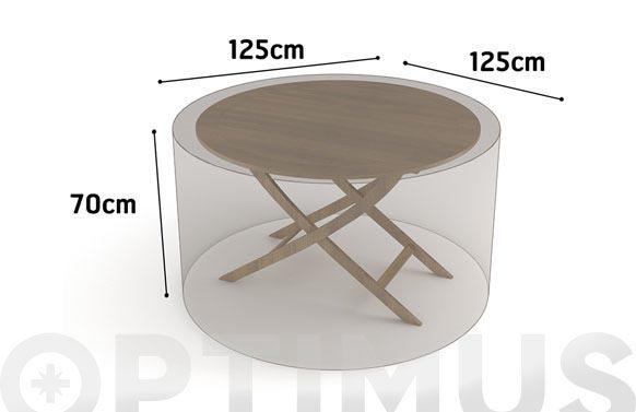 Funda mesa redonda vison 125 x 125 x h 70