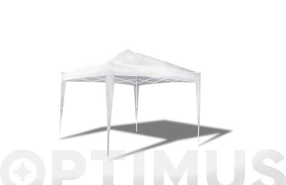 Carpa plegable aluminio 3x3 mt blanca