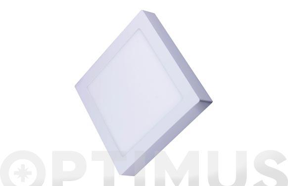 Downlight superficie cuadrado led 20 w blanco 1600 lm luz blanca (4000k)