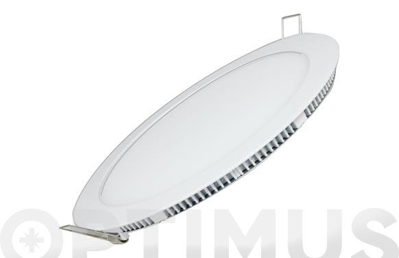 Downlight plano redondo led 18 w blanco 1600lm luz blanca (4000k)