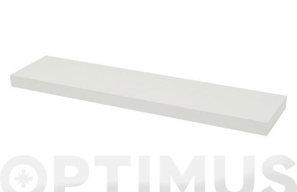 Estante atamborado rectangular xl4 blanco-3,8x80x20 cm