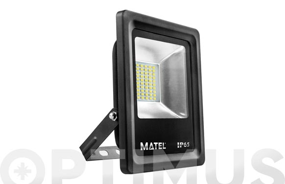 Foco proyector led plano 20 w 2000 lm luz fría ip65
