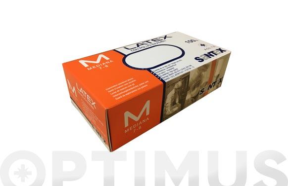 Guante desechable latex con polvo 100 uds t m
