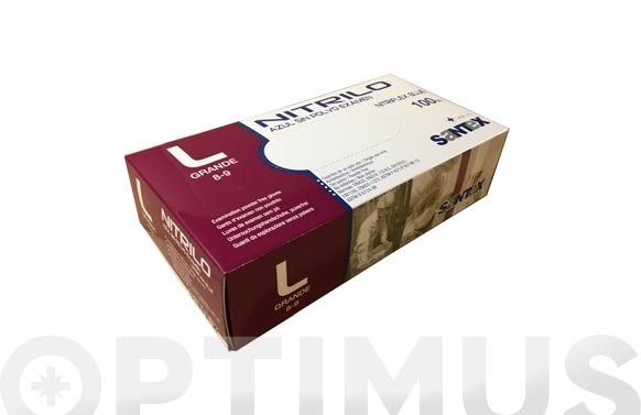 Guante desechable nitrilo sin polvo azul 100 uds t. grande nitriflex