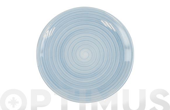 Plato fine china azul postre 20 cm