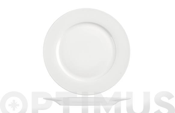 Plato new bone china ala blanco llano-26 cm