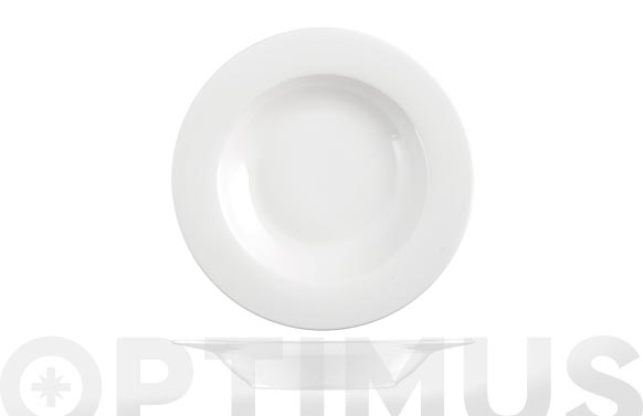 Plato new bone china ala blanco hondo-21 cm