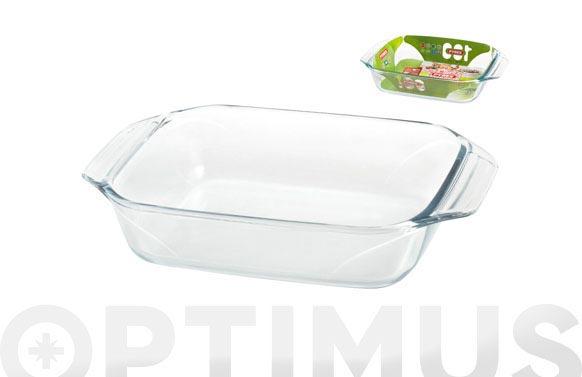 Bandeja vidrio rectangular 38x25 cm