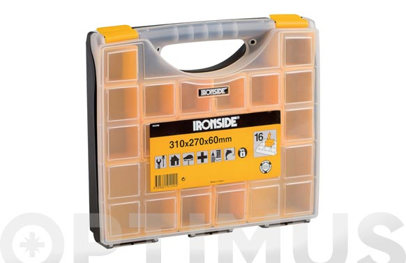 Clasificador maletin polipropileno 310 x 270 x 60 mm 11 compartimentos moviles