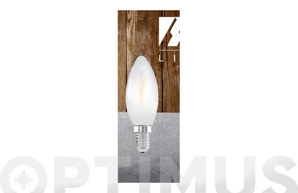 Bombilla led filamento vela opal 3w e14 luz calida (3000k)