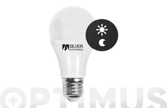 Lampara led con sensor crepuscular e27 10w 550lm luz blanca (5000k)
