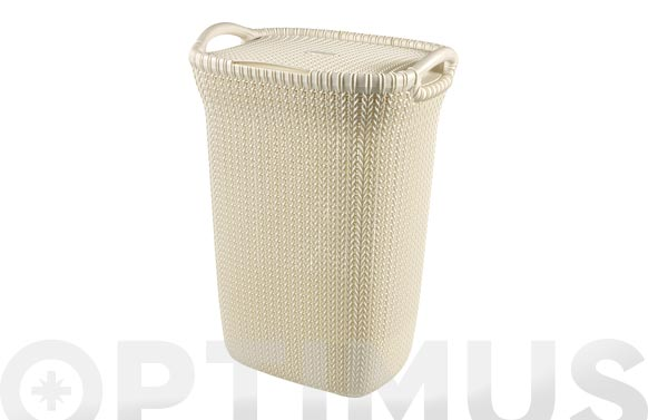 Pongotodo knit hamper 57l blanco