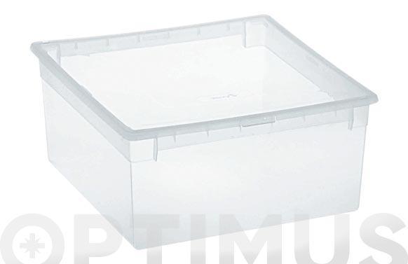 Caja multiusos light box transparente 23 litros