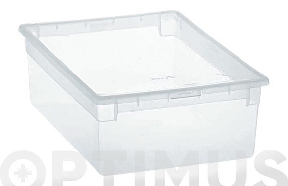 Caja multiusos light box transpararente 12 litros