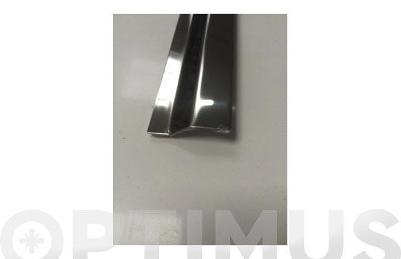 Cubrejunta ceramica parket inox adhesivo 73 cm-40x10 mm