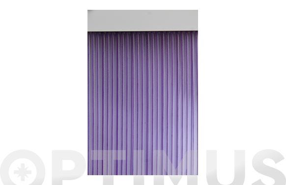 Cortina de puerta cinta duero-lila/transparente 90 x 210 cm