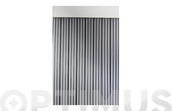 Cortina de puerta cinta duero-negro/transparente 90 x 210 cm