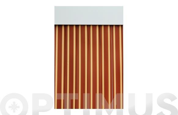 Cortina de puerta cinta ebro-caramelo/beige 90 x 210 cm