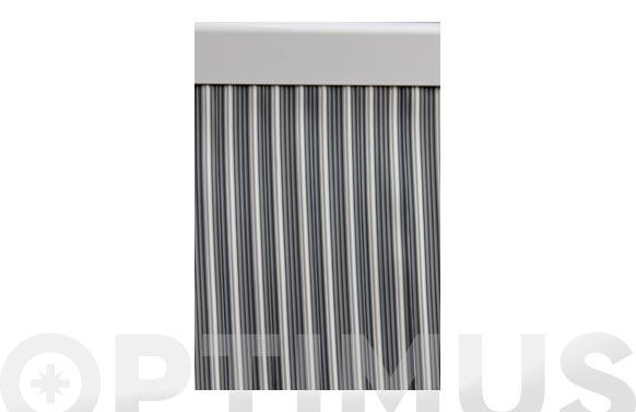 Cortina de puerta cinta ebro-gris/blanco 90 x 210 cm
